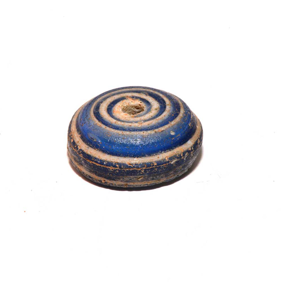A Roman Glass Spindle Whorl, Roman Imperial Period, ca. 3rd Century AD - Sands of Time Ancient Art