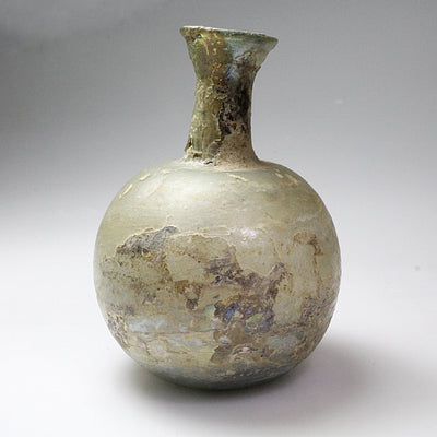 A Roman Glass Ungentarium with Globular Body, 1st century AD - Sands of Time Ancient Art