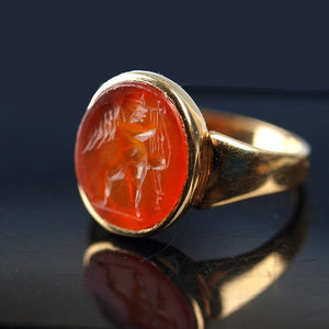 A Roman Carnelian Intaglio Ringstone of Eros, ca. 2nd Century AD - Sands of Time Ancient Art