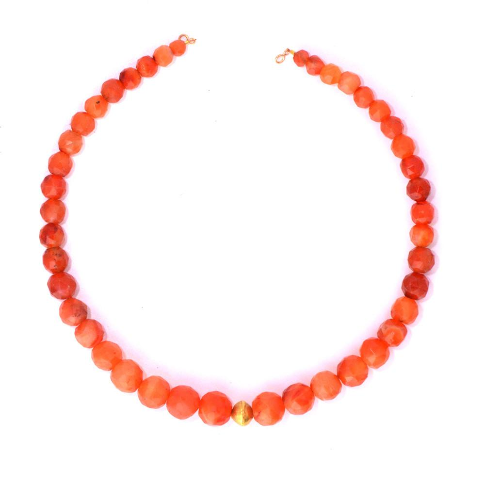 A lovely Roman Carnelian Faceted Bead Necklace, ca 1st century AD - Sands of Time Ancient Art
