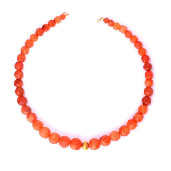 * A lovely Roman Carnelian Faceted Bead Necklace, ca 1st century AD - Sands of Time Ancient Art