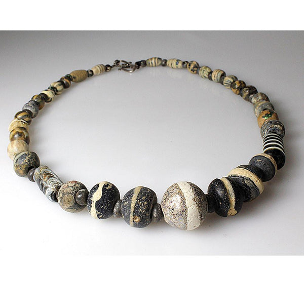 A Islamic Mosaic Glass Bead Necklace, 7th-8th Century BC