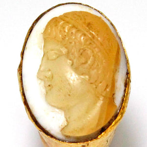 A Roman Gold and Onyx Cameo Ring of Apollo, ca 2nd century CE - Sands of Time Ancient Art