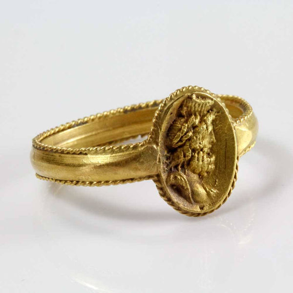 A Roman Gold Ring of Serapis, ca 1st century BC/AD - Sands of Time Ancient Art