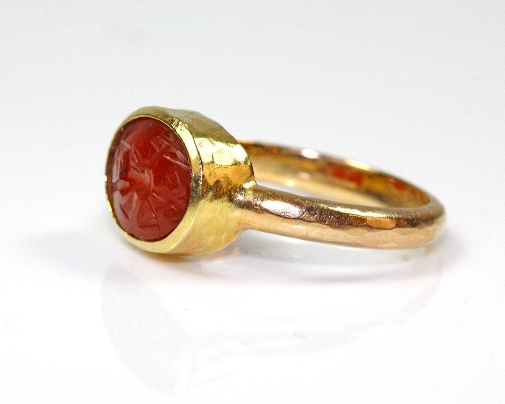 A Roman Carnelian Ringstone Intaglio, ca 2nd century AD - Sands of Time Ancient Art