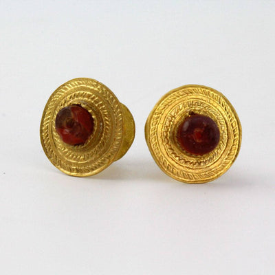 A Pair of Roman Gold Ear Spools, ca. 4th century AD - Sands of Time Ancient Art