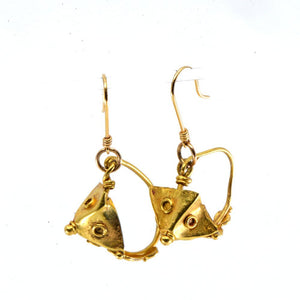 A pair of Roman gold Pyramid Earrings, Roman Imperial Period, ca. 1st - 2nd Century CE - Sands of Time Ancient Art