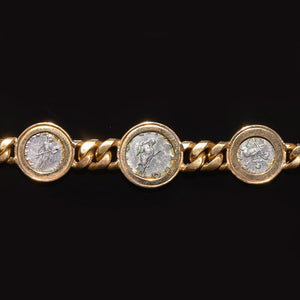 An 18K gold bracelet set with Roman Denarius of Gordian III & Tranquillina, ca. 3rd Century AD) - Sands of Time Ancient Art