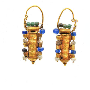 A pair of Etruscan Gold Earrings, ca. 4th century BC - Sands of Time Ancient Art