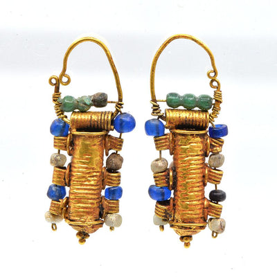 * A pair of Etruscan Gold Earrings, ca. 4th century BC - Sands of Time Ancient Art