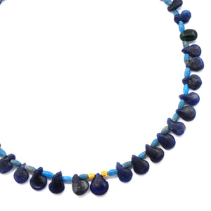 * A Roman Blue Glass Necklace with Earrings, Roman Imperial Period, ca. 1st - 2nd Century AD - Sands of Time Ancient Art
