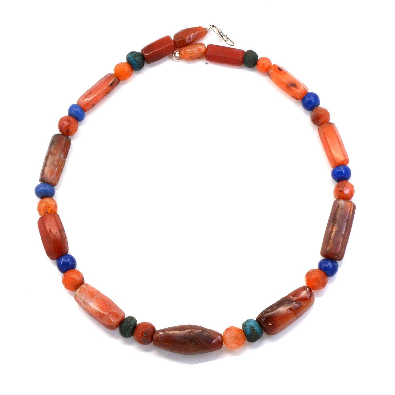 A Roman Carnelian & Glass Bead Necklace, Roman Imperial Period, ca. 3rd - 4th century CE - Sands of Time Ancient Art