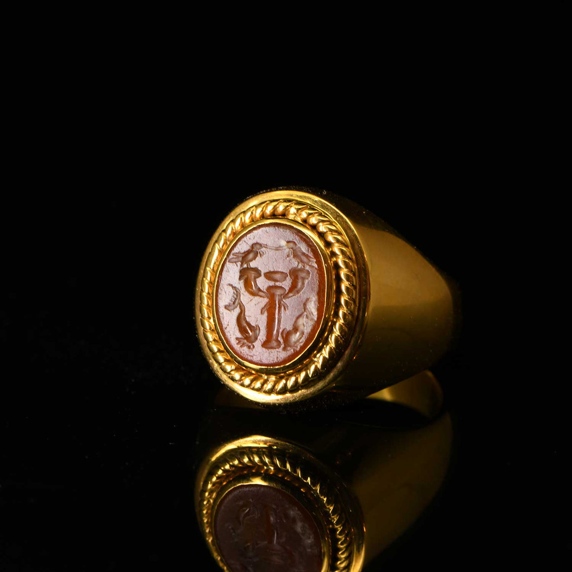 A Roman carnelian ringstone intaglio, ca 1st century CE - Sands of Time Ancient Art