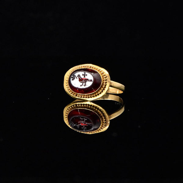 A Byzantine Garnet Intaglio Ring, ca. 4th century CE - Sands of Time Ancient Art