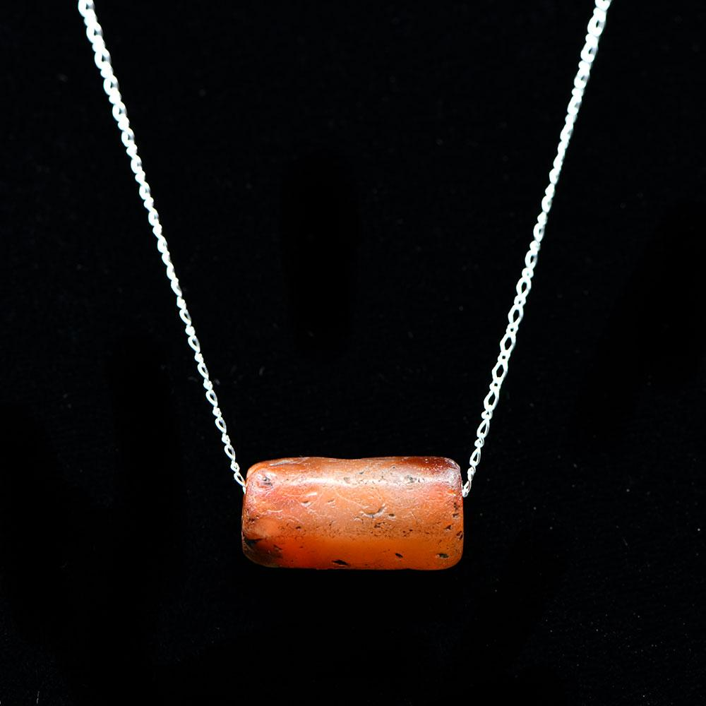 An exhibited Roman Carnelian Bead set as a pendant, ca. 3rd - 4th century CE - Sands of Time Ancient Art