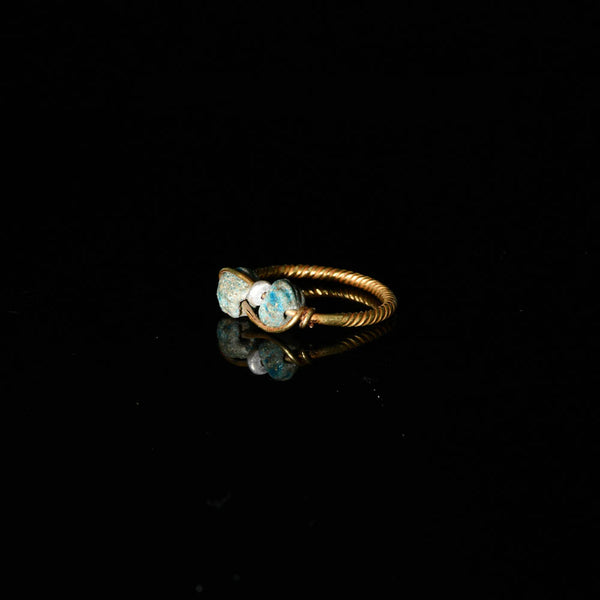 An Egyptian Gold Finger Ring, Ptolemaic - Roman Period, ca. 1st century BCE/CE