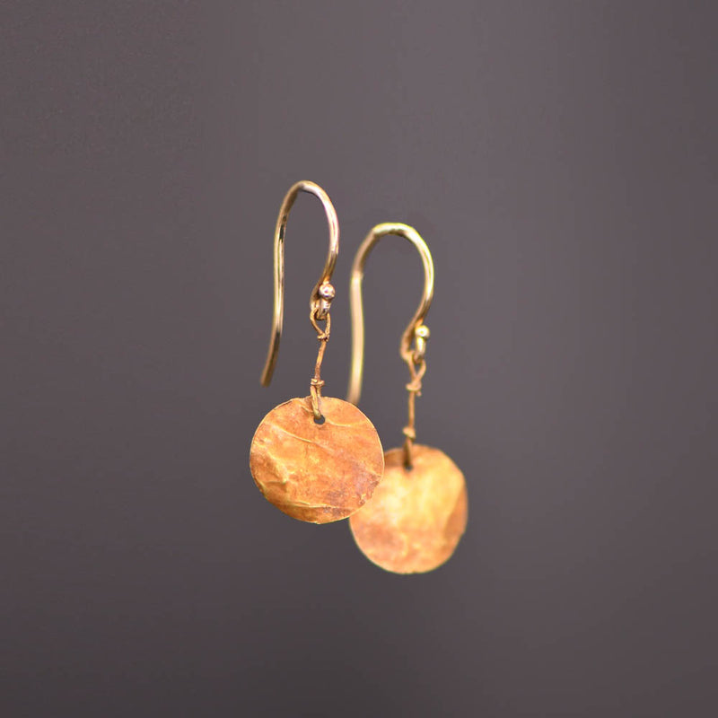 A Pair of Roman Gold Disc Earrings, Roman Imperial Period, ca. 2nd - 3rd century CE