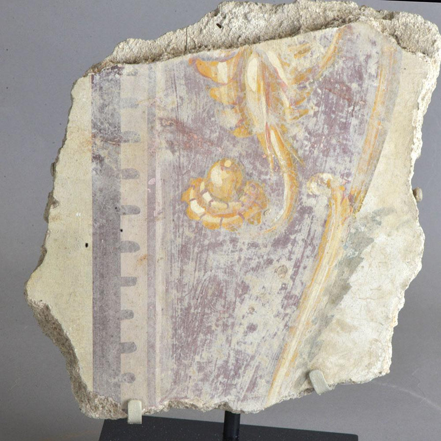 * A Roman Fresco Fragment, ca. 1st - 2nd Century AD - Sands of Time Ancient Art
