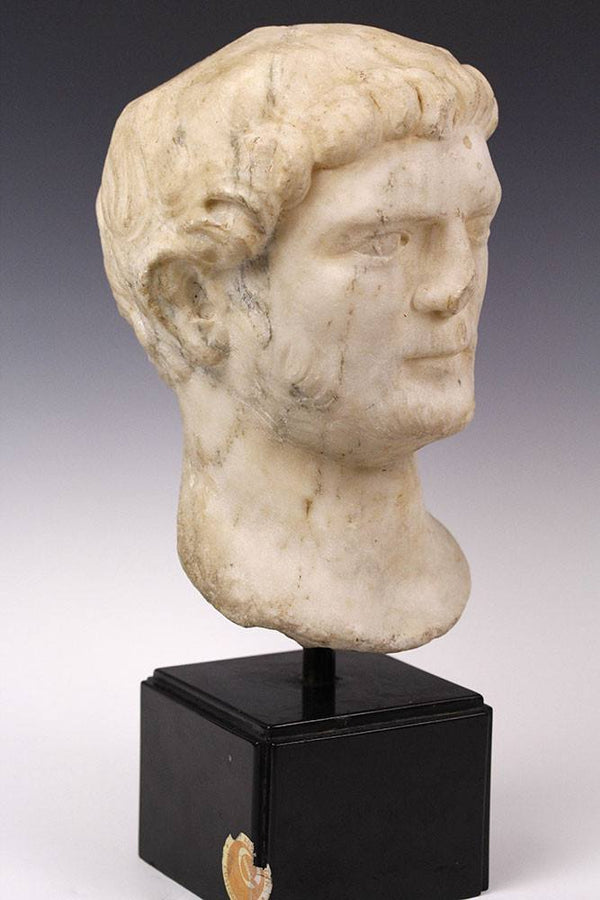 A Roman Marble Portrait Head of a Man, Hadrianic Period, Eastern Empire, ca 117 - 138 AD - Sands of Time Ancient Art