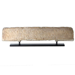 * A published Roman marble dedication Plaque, Republican Period, ca. 2nd - 1st century BC - Sands of Time Ancient Art