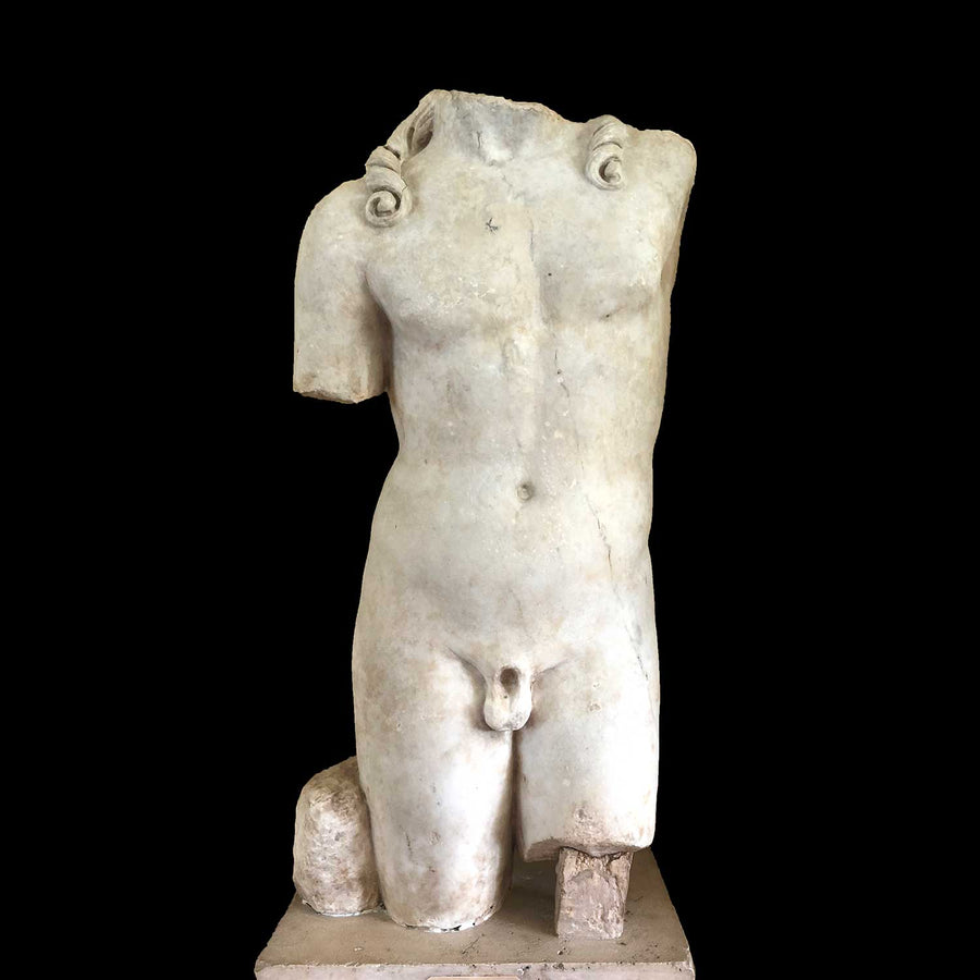 * A Roman Marble Torso of Dionysus, ca. 1st century CE - Sands of Time Ancient Art