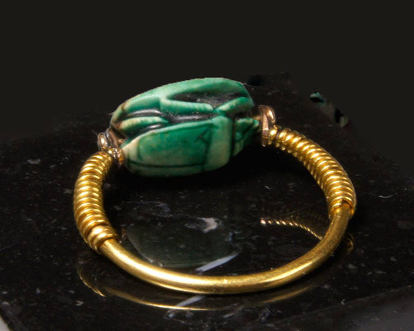 A very fine Egyptian Scarab, 18th Dynasty, time of Tuthmosis III, ca. 1479-1425 B.C. - Sands of Time Ancient Art