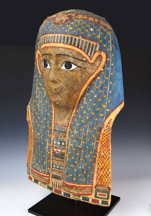 An Egyptian Papyrus Mummy Mask, Ptolemaic Period, ca. 2nd - 1st century BC