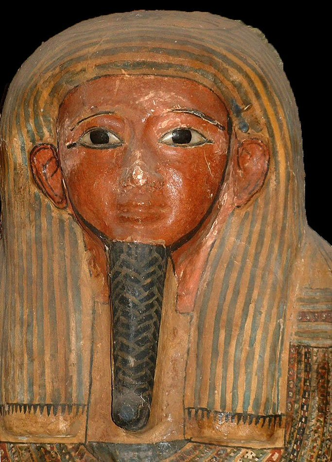 An Egyptian Anthropoid Wood Sarcophagus for Padi-ef-pa-khasef, 26th Dynasty ca 664 - 525 BC - Sands of Time Ancient Art