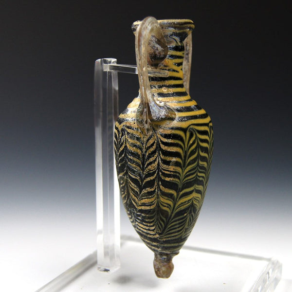 An Eastern Mediterranean core formed Glass Amphoriskos, ca 3rd century BC - Sands of Time Ancient Art