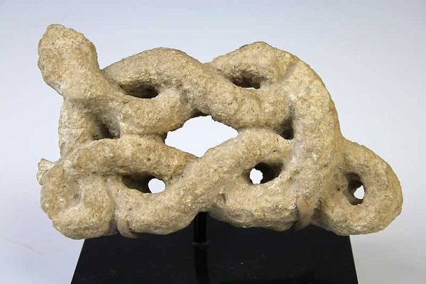 A rare Judaic Limestone Snake, ca 5th century AD - Sands of Time Ancient Art
