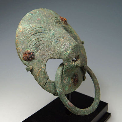 A Roman Bronze Lion Handle, ca 2nd century AD - Sands of Time Ancient Art