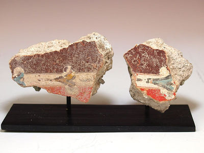 A group of three Roman fresco fragments, ca 1st century AD - Sands of Time Ancient Art