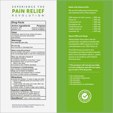 CBDMEDIC™ Arthritis Aches & Pain Relief Deep Joint Rub Ointment - 1.4oz