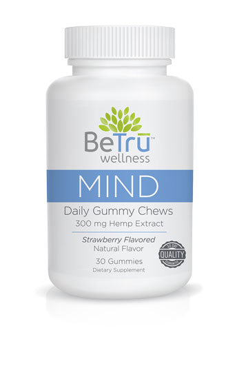 Be Trū Wellness MIND Daily Gummy Chews - 300mg - 30 Count
