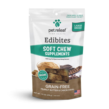 Pet Releaf - Soft Chew CBD Treats For Large Dogs - Peanut Butter & Carob