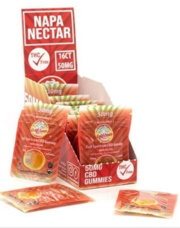 California Grown CBD Gummies Napa Nectar - 50mg - 2 Count (2 Options)