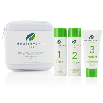 Healthy Skin CBD Infused 3 Step Acne Treatment Regimen