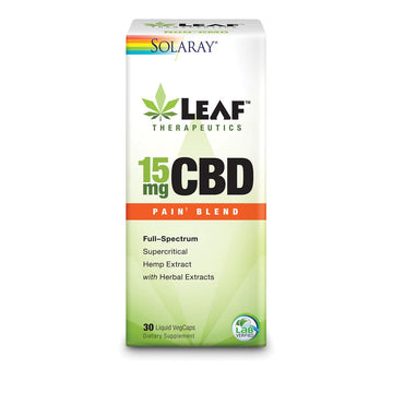 Solaray Leaf Therapeutics CBD -  Blends - 15mg - 30 Count (3 Options)