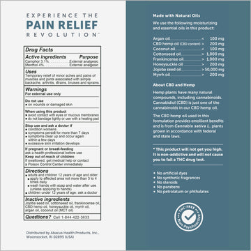 CBDMEDIC™ Massage Therapy Pain Relief Oil - 3.5 fl oz
