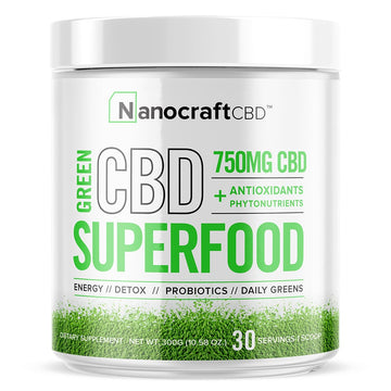 NanoCraft CBD™ - CBD Superfood Green Powder