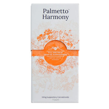 Palmetto Harmony Organic Full Spectrum Suppository - 10mg - 7 Count
