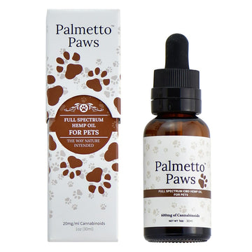 Palmetto Paws Full Spectrum CBD Tincture Oil for Pets (2 Size Options)
