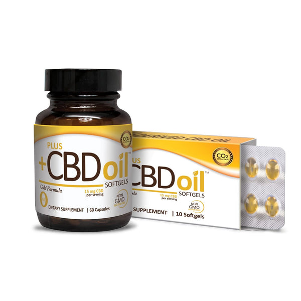 PlusCBD Oil™ Softgels Gold Formula (4 Options)