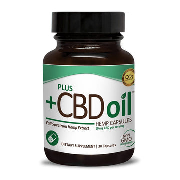 PlusCBD Oil™ CBD Oil Capsules - 300mg - 30 Count
