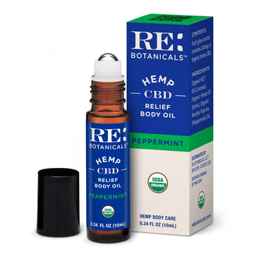 RE Botanicals Hemp Relief Body Oil - 10ml - 200mg (3 Flavor Options)