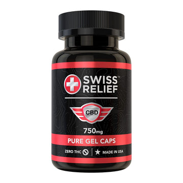 Swiss Relief CBD Gel Caps - 25mg (2 Options)