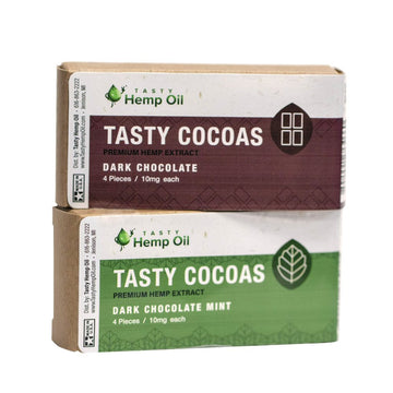 Tasty Cocoas - Hemp Chocolate - 4 pieces - 10mg (2 Flavor Options)