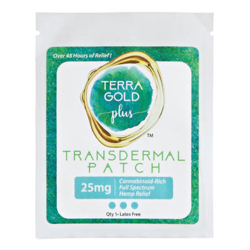 Terra Gold Plus Transdermal Hemp Relief Patch - 25mg