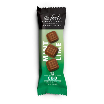 The Feels CBD Carob Chocolate Bars (3 Flavor Options)