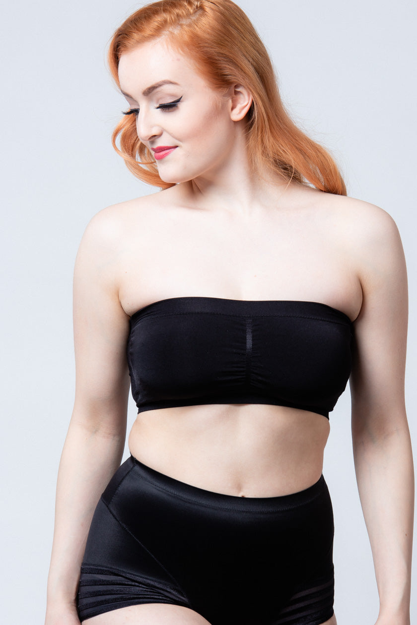 Mustat Bandeau Push Up Rintaliivit